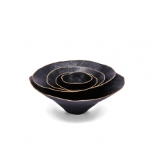 흑유도자 핀칭볼 5종 SETBlack Glazed Ceramics pinching bowl SET
